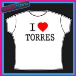 I LOVE HEART TORRES LIVERPOOL FOOTBALL TSHIRT